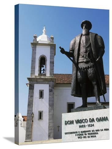 Statue of Vasco Da Gama, Sines, Setubal, Portugal--Stretched Canvas Print
