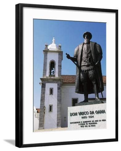 Statue of Vasco Da Gama, Sines, Setubal, Portugal--Framed Art Print
