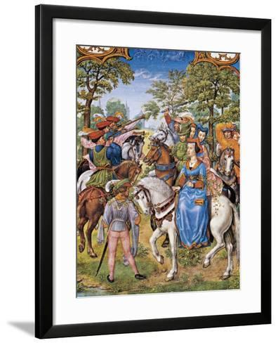The Month of May, Tree Festival, Miniature from the Grimani Breviary, Folio 5, Verso, Flanders--Framed Art Print