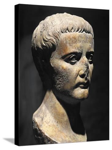 Roman Civilization Bust of Emperor Augustus--Stretched Canvas Print