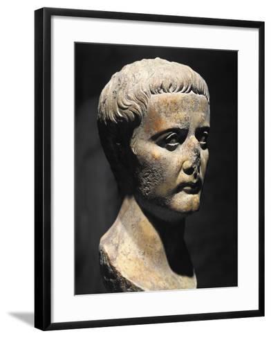 Roman Civilization Bust of Emperor Augustus--Framed Art Print