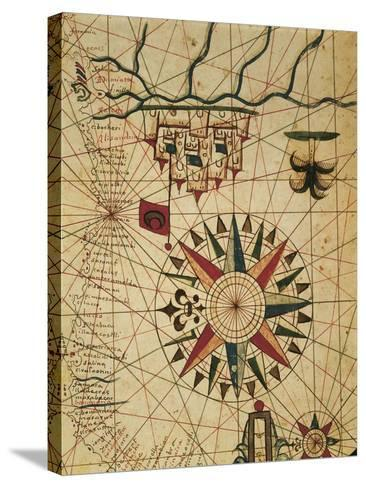 Portolan Chart, Map of Cairo, Egypt--Stretched Canvas Print