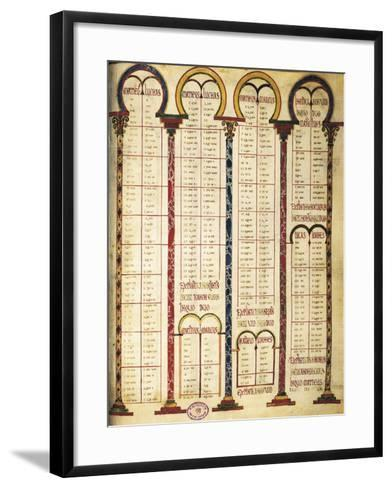 Miniature from the Bible of Danila, 9th Century--Framed Art Print
