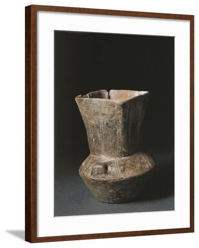 Italy, Savona Province, Square Mouthed Vase from Arene Candide Cave--Framed Art Print