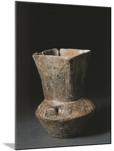 Italy, Savona Province, Square Mouthed Vase from Arene Candide Cave--Mounted Giclee Print