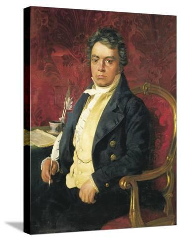 Germany, Portrait of German Composer and Pianist Ludwig Van Beethoven--Stretched Canvas Print
