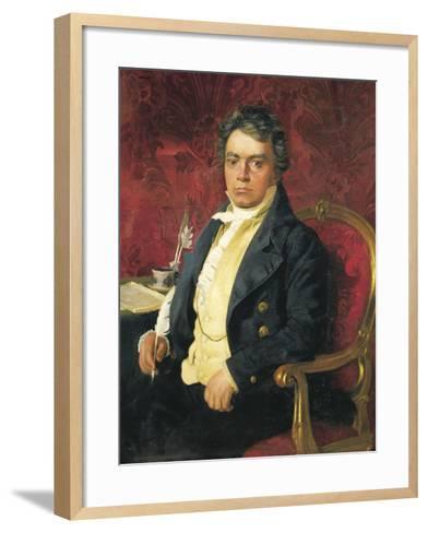 Germany, Portrait of German Composer and Pianist Ludwig Van Beethoven--Framed Art Print