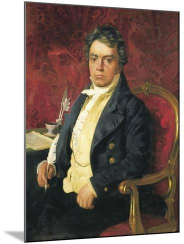 Germany, Portrait of German Composer and Pianist Ludwig Van Beethoven--Mounted Giclee Print