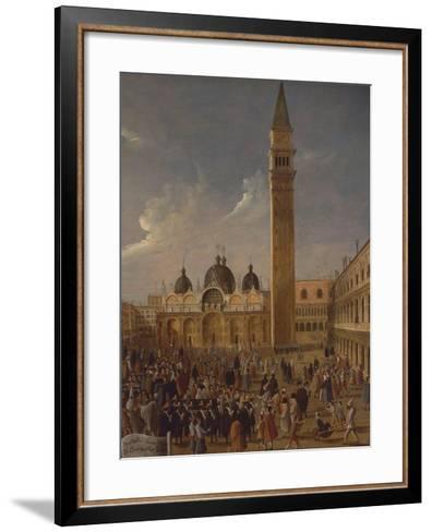 Italy, Veneto, Venice, Carnival on San Marco Square, Close-Up--Framed Art Print