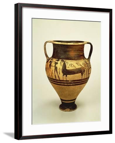 Krater Decorated with Figures of Bigae--Framed Art Print