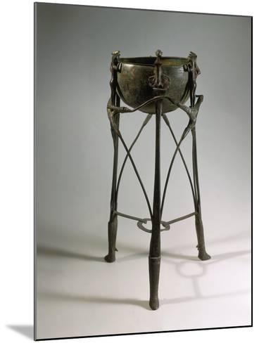 Bronze and Iron Tripod Cauldron Decorated with Animal and Human Figures--Mounted Giclee Print
