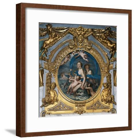 Italy, Genoa, Palazzo Spinola, Hall of Mirrors, Medallion Depicting the Triumph of Galatea--Framed Art Print