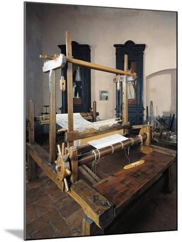 Italy, Morando Bolognini Castle, Hall of Weaving, Weaving Frame with Spinning Pedal--Mounted Giclee Print