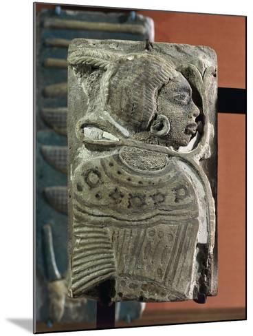 Kingdom of Ramses II, Plate Representing a Black Prisoner, Vitrified Brick, from Egypt--Mounted Giclee Print