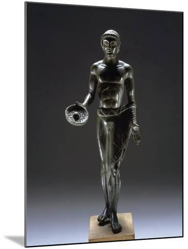 Italy, Bologna, Monte Acuto Ragazza, Bronze Statue Depicting Male Youth Praying--Mounted Giclee Print