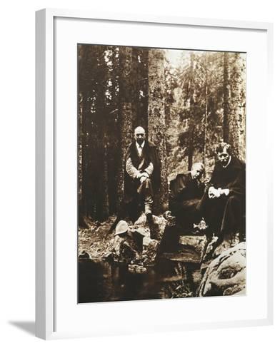 Hungary, Budapest, Bela Viktor Janos Bartok on His Journey around Transylvania--Framed Art Print