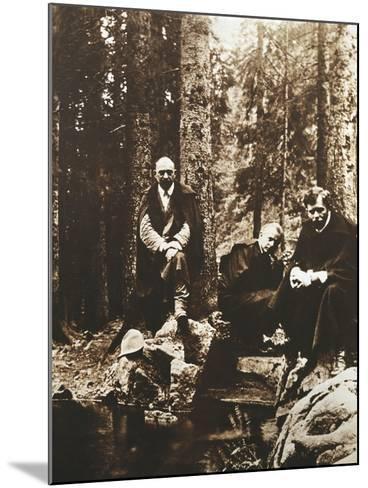Hungary, Budapest, Bela Viktor Janos Bartok on His Journey around Transylvania--Mounted Giclee Print