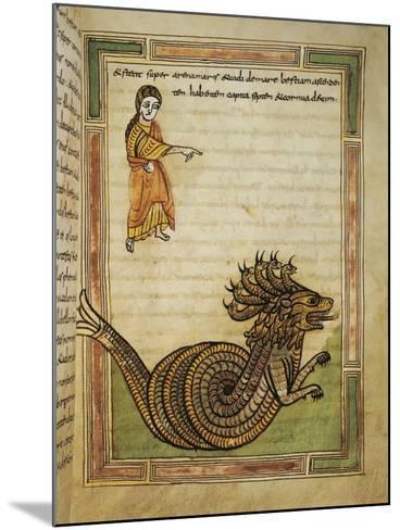 France, 9th Century, Abbey of Saint-Amand, Illuminated Apocalypse Latin Manuscript--Mounted Giclee Print