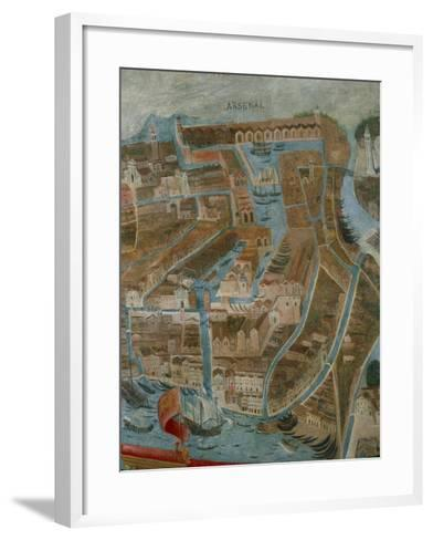 Italy, Perspective Map of Venice, Arsenal, Detail--Framed Art Print