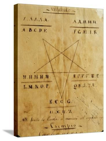 Symbols and Alphabet Used by the Carbonari Organization--Stretched Canvas Print