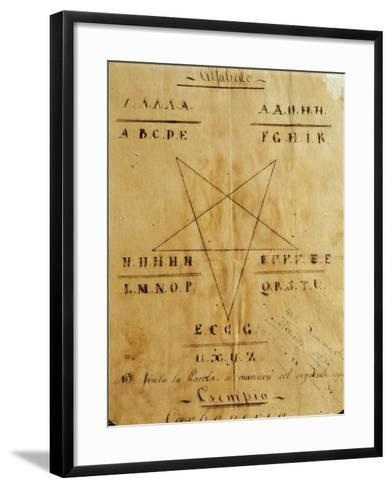 Symbols and Alphabet Used by the Carbonari Organization--Framed Art Print