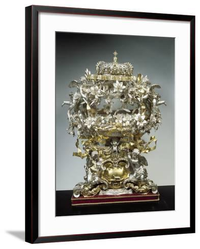 Partly Gilded Silver Reliquary of Saint Casimir--Framed Art Print