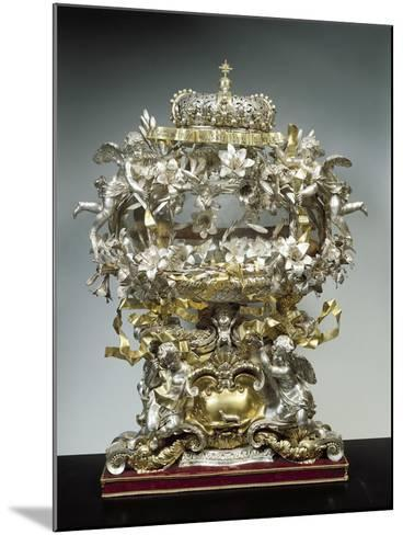 Partly Gilded Silver Reliquary of Saint Casimir--Mounted Giclee Print