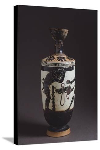 Lekythos Showing Hercules and Atles, Detail Showing Hercules--Stretched Canvas Print