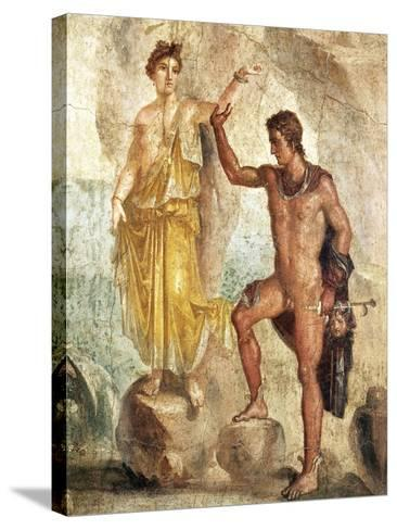 Fresco Depicting Perseus and Andromeda--Stretched Canvas Print