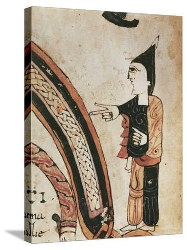 Figure of a Monk, Mozarabic Miniature from Liber Ordinum, 1052--Stretched Canvas Print