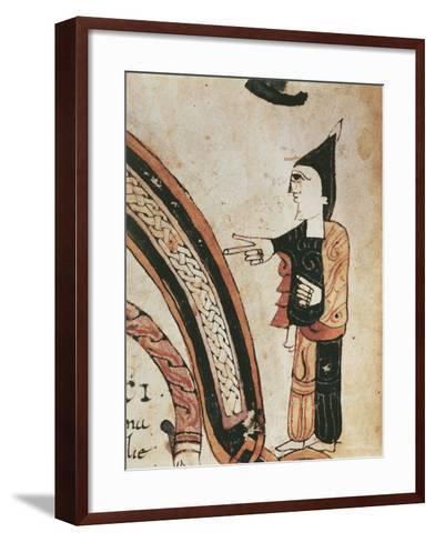 Figure of a Monk, Mozarabic Miniature from Liber Ordinum, 1052--Framed Art Print