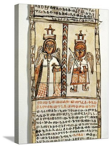 Ethiopia, Two Angels Holding Swords, from Arab Manuscript--Stretched Canvas Print