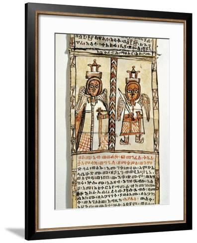 Ethiopia, Two Angels Holding Swords, from Arab Manuscript--Framed Art Print