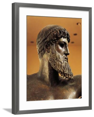 Bronze Statue of Poseidon from Cape Artemision--Framed Art Print