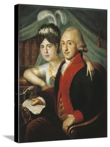 Russian Couple of Nobles from Province, around 1790--Stretched Canvas Print