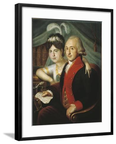 Russian Couple of Nobles from Province, around 1790--Framed Art Print