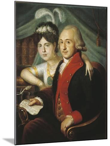 Russian Couple of Nobles from Province, around 1790--Mounted Giclee Print