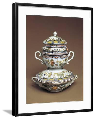 Cup for Mothers of Newborns with Carnation Motifs--Framed Art Print