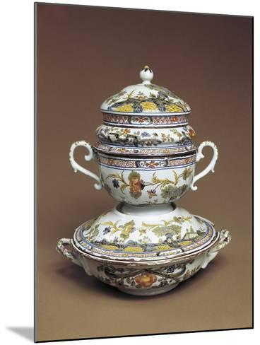 Cup for Mothers of Newborns with Carnation Motifs--Mounted Giclee Print