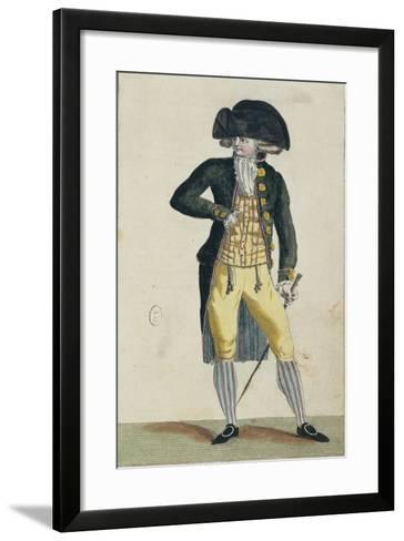 Men's Fashion Plate--Framed Art Print