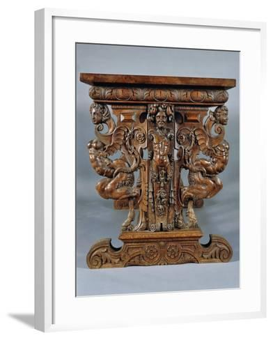 Table Carved with Grotesques, Ca 1570--Framed Art Print
