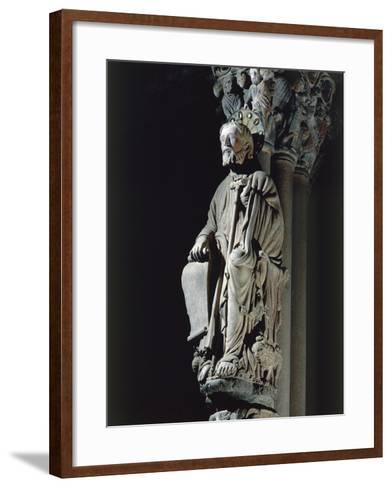 Spain, Santiago De Compostela, Figure of St James from Door of Glory in Cathedral--Framed Art Print