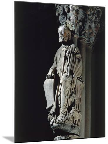 Spain, Santiago De Compostela, Figure of St James from Door of Glory in Cathedral--Mounted Giclee Print