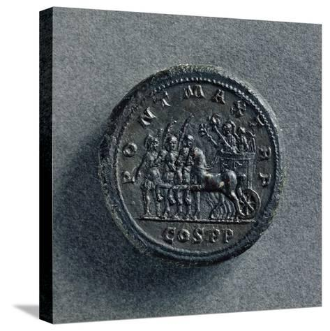 Bronze Macedonian Coin Depicting Philip II of Macedonia on Chariot, Greek Coins--Stretched Canvas Print