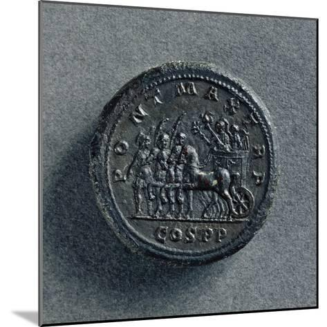 Bronze Macedonian Coin Depicting Philip II of Macedonia on Chariot, Greek Coins--Mounted Giclee Print