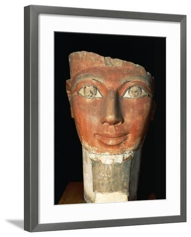Head of Queen Hatshepsut from Deir El-Bahari--Framed Art Print