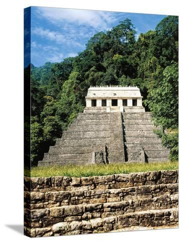 Mexico, Chiapas, Palenque, Temple of Inscriptions at Mayan Archaeological Site--Stretched Canvas Print