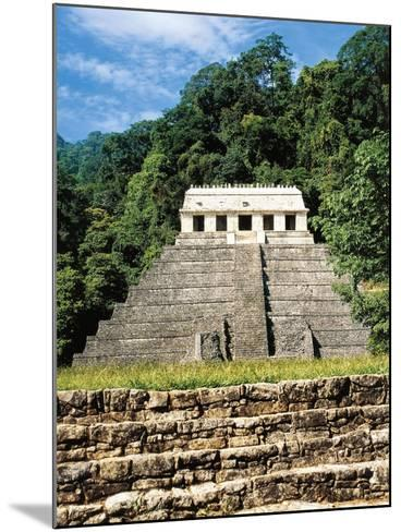 Mexico, Chiapas, Palenque, Temple of Inscriptions at Mayan Archaeological Site--Mounted Giclee Print