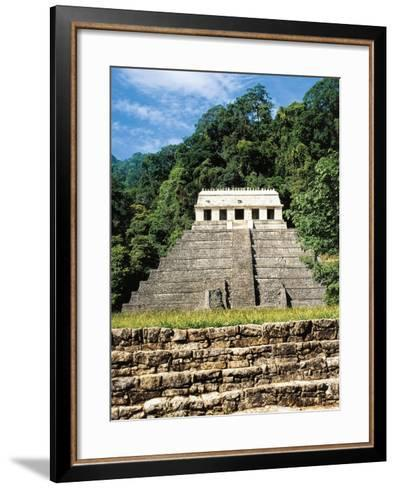 Mexico, Chiapas, Palenque, Temple of Inscriptions at Mayan Archaeological Site--Framed Art Print