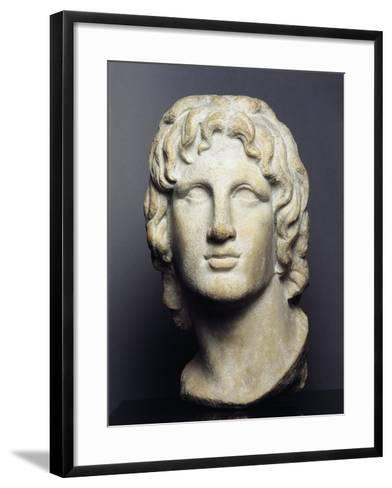 Marble Head of Alexander the Great--Framed Art Print